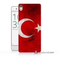 Teknomeg Sony Xperia Z5 Mini Kapak Kılıf Türkiye Baskılı Silikon