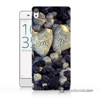 Teknomeg Sony Xperia Z5 Premium Kapak Kılıf Love Baskılı Silikon