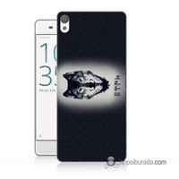 Teknomeg Sony Xperia Z5 Premium Kapak Kılıf Kurt Baskılı Silikon