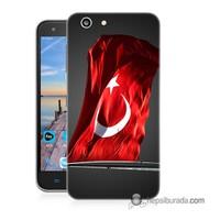 Teknomeg Turkcell T70 Kapak Kılıf Türk Bayrağı Baskılı Silikon