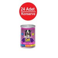 Quik Köpek Biftek-Sebze Konservesi 415 Gr X 24'Lü gk