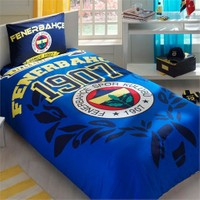 Taç Lisanslı Fenerbahçe The Legend Tek Kişilik Ranforce Nevresim Takımı