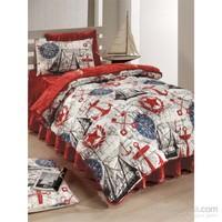 Kupon Tek Kişilik Uyku Seti Marina Kırmızı