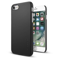 Spigen Apple iPhone 7 Kılıf Thin Fit Ultra İnce - Black - 042CS20427