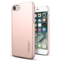 Spigen Apple iPhone 7 Kılıf Thin Fit Ultra İnce Rose Gold - 042CS20429