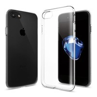 Spigen Apple iPhone 8 - iPhone 7 Kılıf Liquid Crystal 4 Tarafı Tam Koruma Crystal Clear - 042CS20435