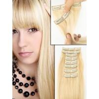 Hairens® 8 Parça Gerçek Doğal Çıt Çıt Saç Platin Sarı 170gr.