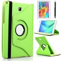 Kılıfland Samsung Galaxy Tab A T550 Kılıf 360 Standlı Yeşil+Film+Kalem