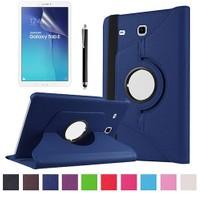 Kılıfland Samsung Galaxy Tab E T560 Kılıf 360 Standlı Lacivert+Film+Kalem