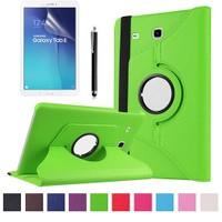 Kılıfland Samsung Galaxy Tab E T377 Kılıf 360 Standlı Yeşil+Film+Kalem