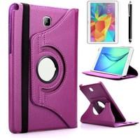 Kılıfland Samsung Galaxy Tab A T550 Kılıf 360 Standlı Mor+Film+Kalem