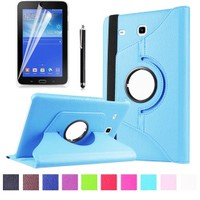Kılıfland Samsung Galaxy Tab 3 Lite Kılıf 360 Standlı Turkuaz+Film+Kalem
