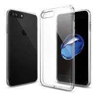 Spigen Apple iPhone 8 Plus - iPhone 7 Plus Kılıf Liquid Crystal 4 Tarafı Tam Koruma Crystal Clear - 043CS20479
