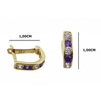 Melis Gold Altın Taşlı Küpe Kp000021