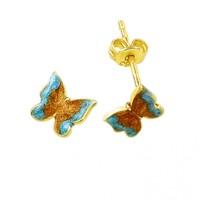 Melis Gold Altın Kelebekli Küpe Kp000160