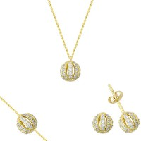Melis Gold Altın Taşlı Set As000034