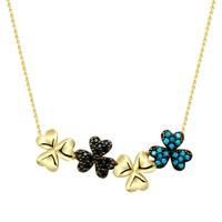 Melis Gold Gümüş Çiçek Gkly0009