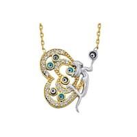 Melis Gold Gümüş Kelebek Kolye Gkly0061