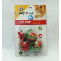 LuxuryPaws Pvc Tüylü Top Kedi Oyuncak 3 Lü