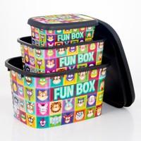 Oyuncak Kutusu Saklama Kutusu Seti 3'lü FunBox