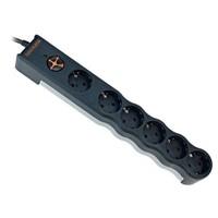 Tunçmatik Enerji Koruma Prizi Powersurge 6'lı Siyah 1050 JOULE (TSK6137)