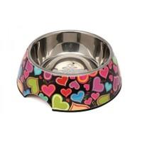 Super Design Ap990013 L Renkli Kalp Desen Melamin Mama Kabı