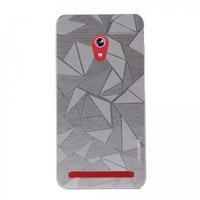 Tlfcom Motomo Asus Zenfone 5 Alüminyum 3D Rubber Kılıf -Silver
