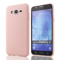 Tlfcom Samsung Galaxy J7 Silikon Kılıf Pembe