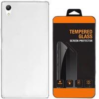 Exclusive Phone Case Sony Xperia C4 Kılıf 0.2 Silikon Şeffaf+Tempered Glass