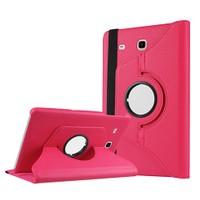 Exclusive Phone Case Samsung Galaxy Tab E T560 Kılıf 360 Standlı Pembe+Film+Kalem