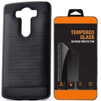 Exclusive Phone Case Lg V10 Kılıf Tam Koruma Siyah+Tempered Glass