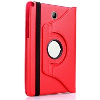 Exclusive Phone Case Samsung Galaxy Tab A T350 Kılıf 360 Standlı Kırmızı+Film+Kalem