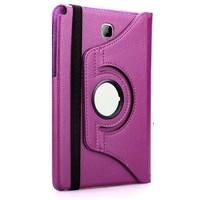 Exclusive Phone Case Samsung Galaxy Tab A T350 Kılıf 360 Standlı Mor+Film+Kalem