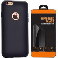 Exclusive Phone Case Samsung Galaxy J7 Kılıf Mat Silikon +Tempered Glass