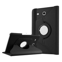 Kılıfland Samsung Galaxy Tab E T377 Kılıf 360 Standlı Siyah+Film+Kalem