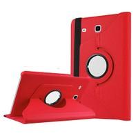 Exclusive Phone Case Samsung Galaxy Tab E T560 Kılıf 360 Standlı Kırmızı+Film+Kalem