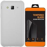 Exclusive Phone Case Samsung Galaxy Grand Prime Kılıf 0.2 Silikon Şeffaf+Tempered Glass