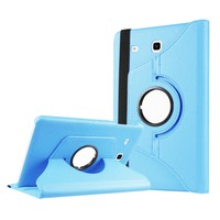 Exclusive Phone Case Samsung Galaxy Tab E T560 Kılıf 360 Standlı Turkuaz+Film+Kalem
