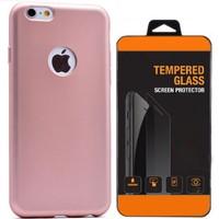 Exclusive Phone Case İphone 5 5S Kılıf Mat Silikon +Tempered Glass