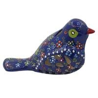 Myros Myros Koyu Mavi Kuş Şekilli Mumluk