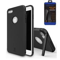 Cepsesuar iPhone 7 Kılıf Hermit Serisi Baseus Siyah + Cam