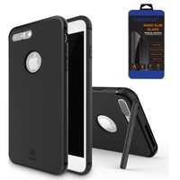 Cepsesuar iPhone 7 Plus Kılıf Hermit Serisi Baseus Siyah + Cam