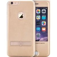 Totu Design Apple iPhone 6 / 6s Manyelik Kapaklı ve Standlı Büyük Pencereli Deri Kılıf