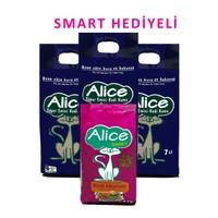 Alice Süper Emici Kedi Kumu 7x3 Kg + 1 Kg Smart Hediyeli