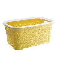Modelüks Oya Desenli Temiz Çamaşır Sepeti - Sarı