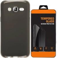 Kılıfland Samsung Galaxy Core Prime Kılıf 0.2 Silikon Siyah+Temperli Cam