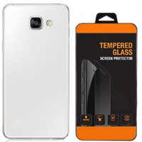 Exclusive Phone Case Samsung Galaxy A3 2016 Kılıf 0.2 Silikon Şeffaf+Tempered Glass