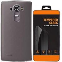 Exclusive Phone Case Lg G Flex 2 Kılıf 0.2 Silikon Siyah+Tempered Glass