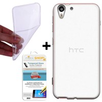Gpack HTC Desire 728 Kılıf 0.2MM Silikon (Cam)