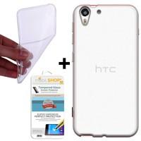 Gpack HTC Desire 820 Kılıf 0.2MM Silikon (Cam)